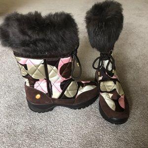 Coach 'Sasha' C Logo winter Boots with Fur Trim 8